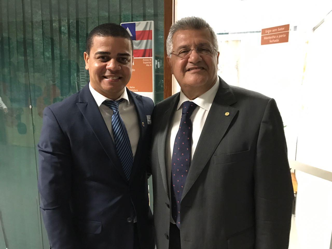 Visita do vereador de Teixeira de Freitas, Adriano Souza (PTN)
