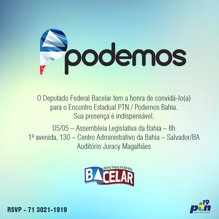Podemos realiza encontro em Salvador para discutir a nova política