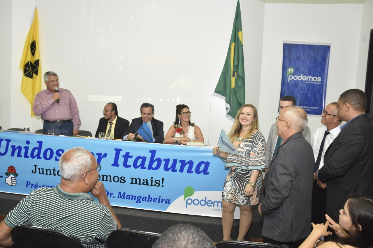 Bacelar confirma aliança com Mangabeira em posse da nova diretoria do Podemos em Itabuna