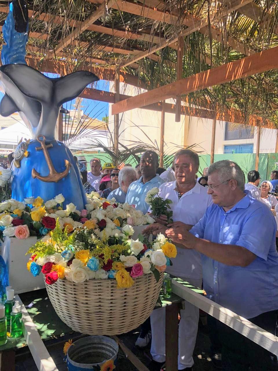 Festa de Iemanjá: Bacelar celebra com Álvaro Dias e defende melhorias no Rio Vermelho