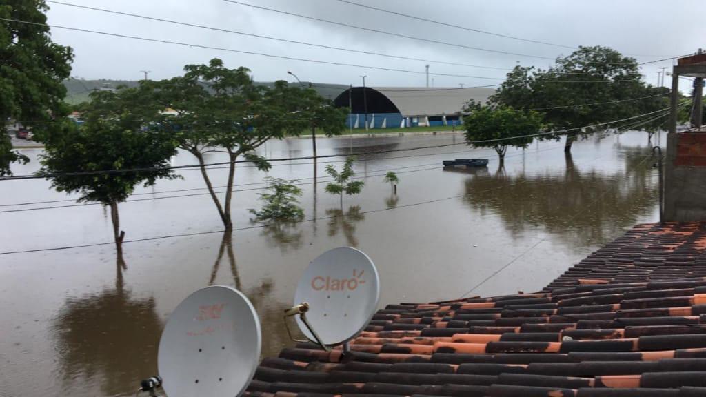Enchente do Rio Inhambupe atinge Cardeal da Silva