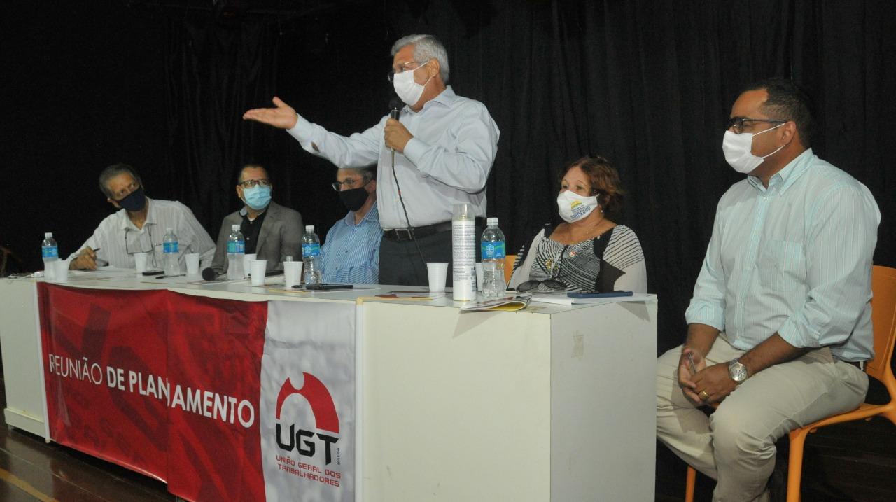 Bacelar reafirma apoio ao movimento sindical em encontro com presidente da UGT